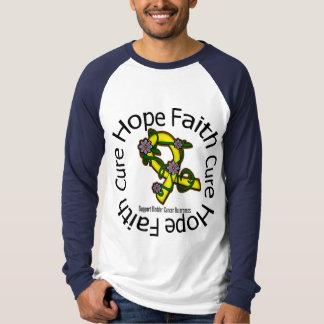 Hope Faith Cure Bladder Cancer Flower Ribbon T-Shirt