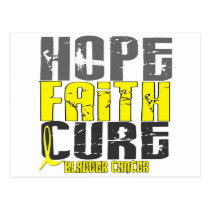 HOPE FAITH CURE BLADDER CANCER POSTCARD
