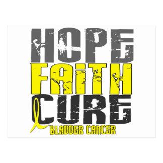 HOPE FAITH CURE BLADDER CANCER POSTCARD