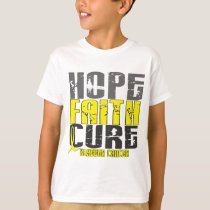 HOPE FAITH CURE BLADDER CANCER T-Shirts & Apparel