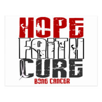 HOPE FAITH CURE BONE CANCER POSTCARD