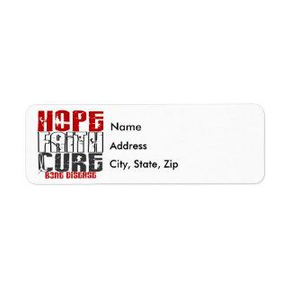 Hope Faith Cure Bone Disease Label