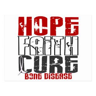 Hope Faith Cure Bone Disease Postcard