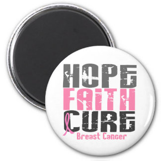 HOPE FAITH CURE BREAST CANCER REFRIGERATOR MAGNET