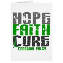HOPE FAITH CURE CEREBRAL PALSY CARD