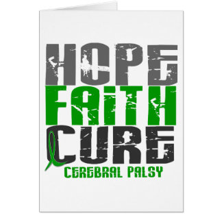 HOPE FAITH CURE CEREBRAL PALSY CARD