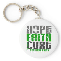 HOPE FAITH CURE CEREBRAL PALSY KEYCHAIN