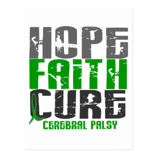 HOPE FAITH CURE CEREBRAL PALSY POSTCARD