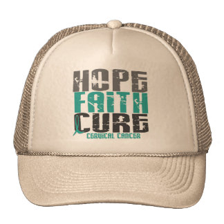 HOPE FAITH CURE CERVICAL CANCER TRUCKER HAT