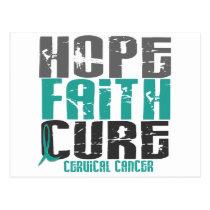 HOPE FAITH CURE CERVICAL CANCER POSTCARD