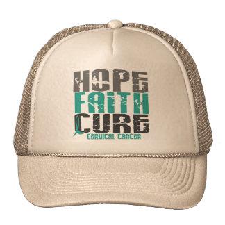 HOPE FAITH CURE CERVICAL CANCER TRUCKER HAT