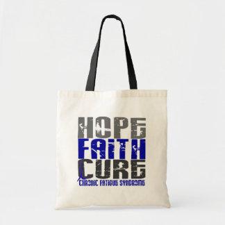 Hope Faith Cure CFS Chronic Fatigue Syndrome Tote Bags
