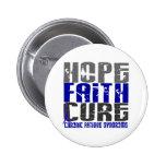 Hope Faith Cure CFS Chronic Fatigue Syndrome Pin