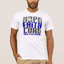 Hope Faith Cure CFS Chronic Fatigue Syndrome T-Shirt