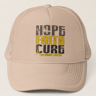 HOPE FAITH CURE CHILDHOOD CANCER T-Shirts & Appare Trucker Hat