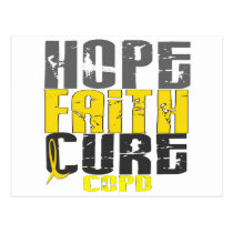 Hope Faith Cure COPD Postcard