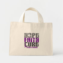 HOPE FAITH CURE CROHN'S DISEASE T-Shirts & Apparel Mini Tote Bag