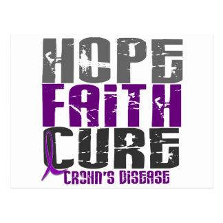 HOPE FAITH CURE CROHN'S DISEASE T-Shirts & Apparel Postcard