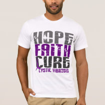 HOPE FAITH CURE CYSTIC FIBROSIS T-Shirts & Apparel