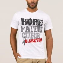 Hope. Faith. Cure - Diabetes Awareness T-Shirt