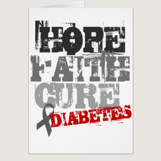Hope. Faith. Cure. Diabetes Card