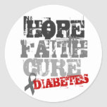 Hope. Faith. Cure. Diabetes Classic Round Sticker