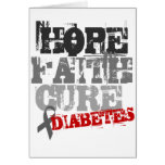 Hope. Faith. Cure. Diabetes Greeting Card