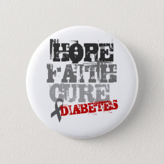 Hope. Faith. Cure. Diabetes Pinback Button