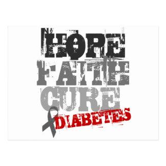 Hope. Faith. Cure. Diabetes Postcard