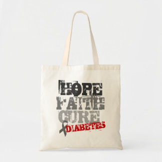 Hope. Faith. Cure. Diabetes Tote Bag