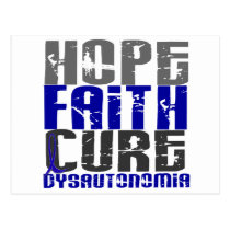 Hope Faith Cure Dysautonomia Postcard