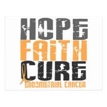 HOPE FAITH CURE ENDOMETRIAL CANCER T-Shirts Postcard
