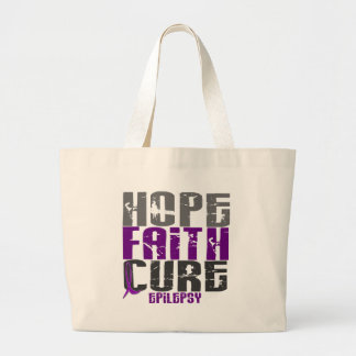 HOPE FAITH CURE EPILEPSY T-Shirts & Apparel Tote Bags