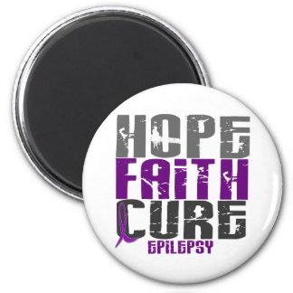 HOPE FAITH CURE EPILEPSY T-Shirts & Apparel Magnet