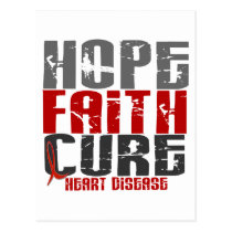 HOPE FAITH CURE HEART DISEASE POSTCARD