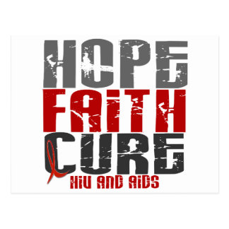 HOPE FAITH CURE HIV / AIDS T-Shirts & Apparel Postcard