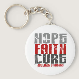 Hope Faith Cure Juvenile Diabetes Keychain