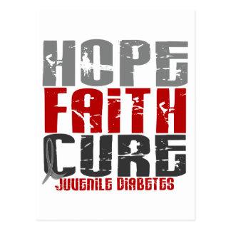 Hope Faith Cure Juvenile Diabetes Postcard