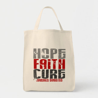 Hope Faith Cure Juvenile Diabetes Tote Bag
