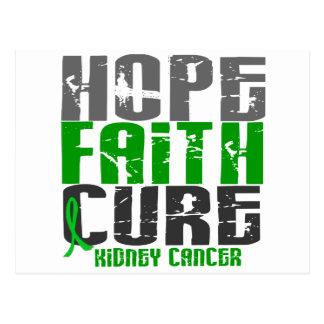 HOPE FAITH CURE KIDNEY CANCER (Green) Postcard