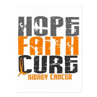 HOPE FAITH CURE KIDNEY CANCER (Orange Ribbon) Postcard