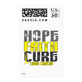 HOPE FAITH CURE LIVER CANCER (Yellow Ribbon) Postage
