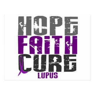 HOPE FAITH CURE LUPUS T-Shirts & Apparel Postcard