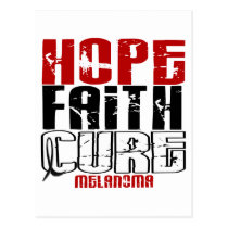 HOPE FAITH CURE MELANOMA POSTCARD