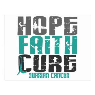 HOPE FAITH CURE OVARIAN CANCER POSTCARD