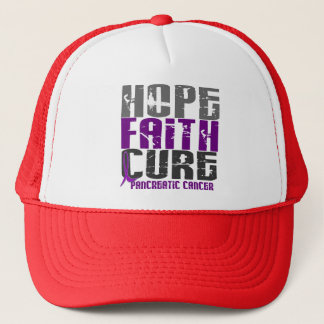 HOPE FAITH CURE PANCREATIC CANCER T-Shirts Trucker Hat