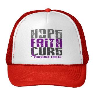 HOPE FAITH CURE PANCREATIC CANCER T-Shirts Trucker Hat