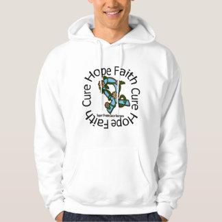 Hope Faith Cure Prostate Cancer Flower Ribbon Sweatshirts