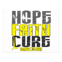 HOPE FAITH CURE SARCOMA T-Shirts & Apparel Postcard