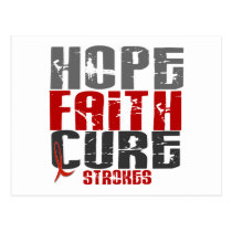 Hope Faith Cure Stroke 1 Postcard